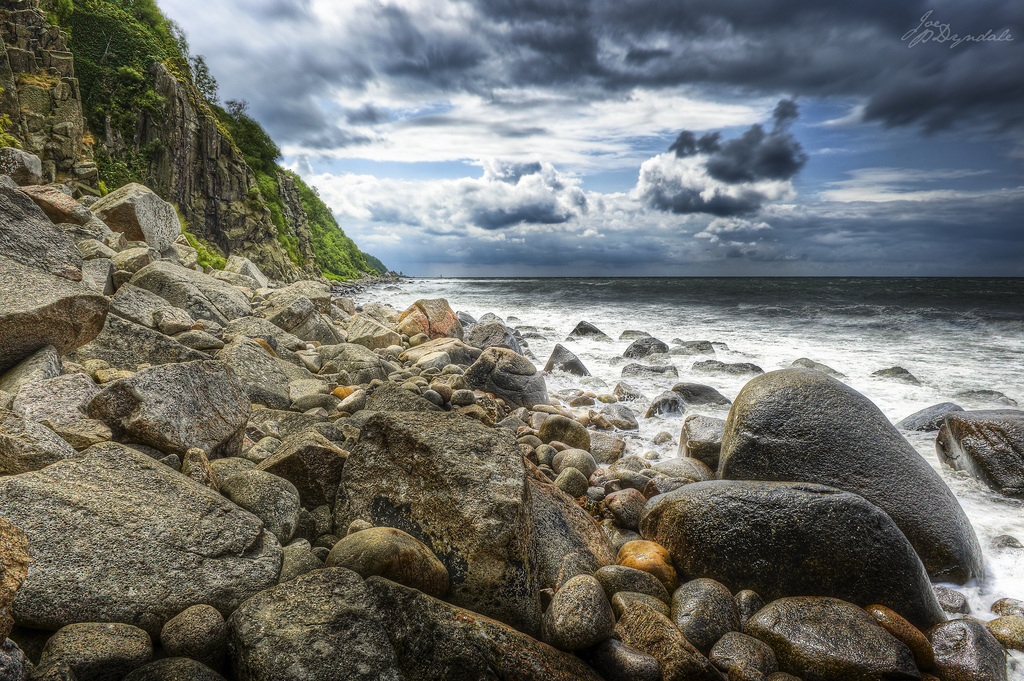 The island of Bornholm is famous for its cliffs and rocky shore lines