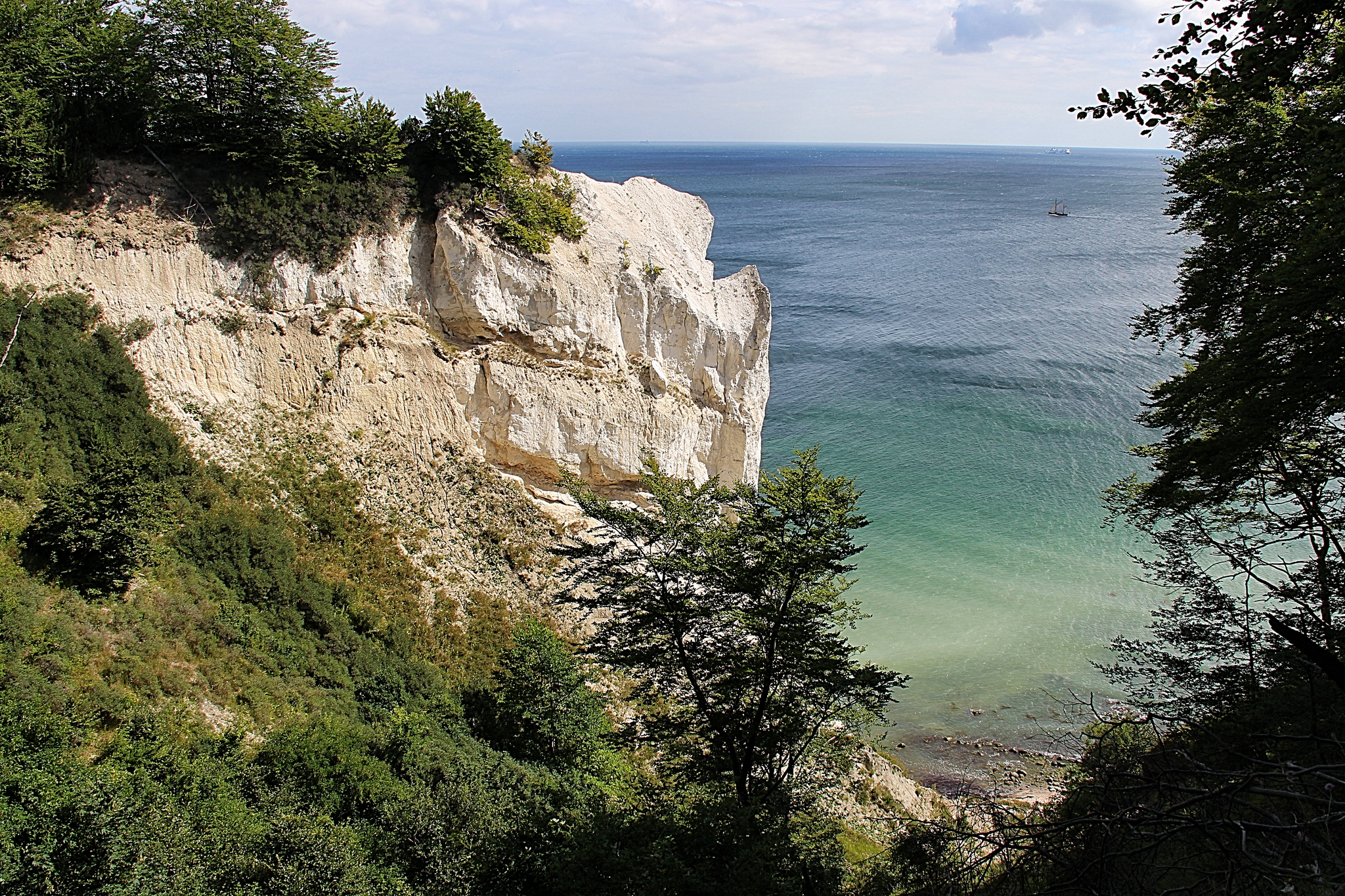 From the top of the cliffs there is a stunning view of the Baltic Sea