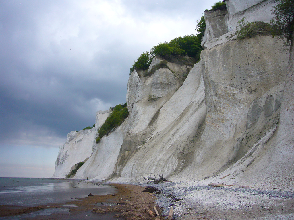 The cliffs of Moen is the biggest limestone cliff in Denmark