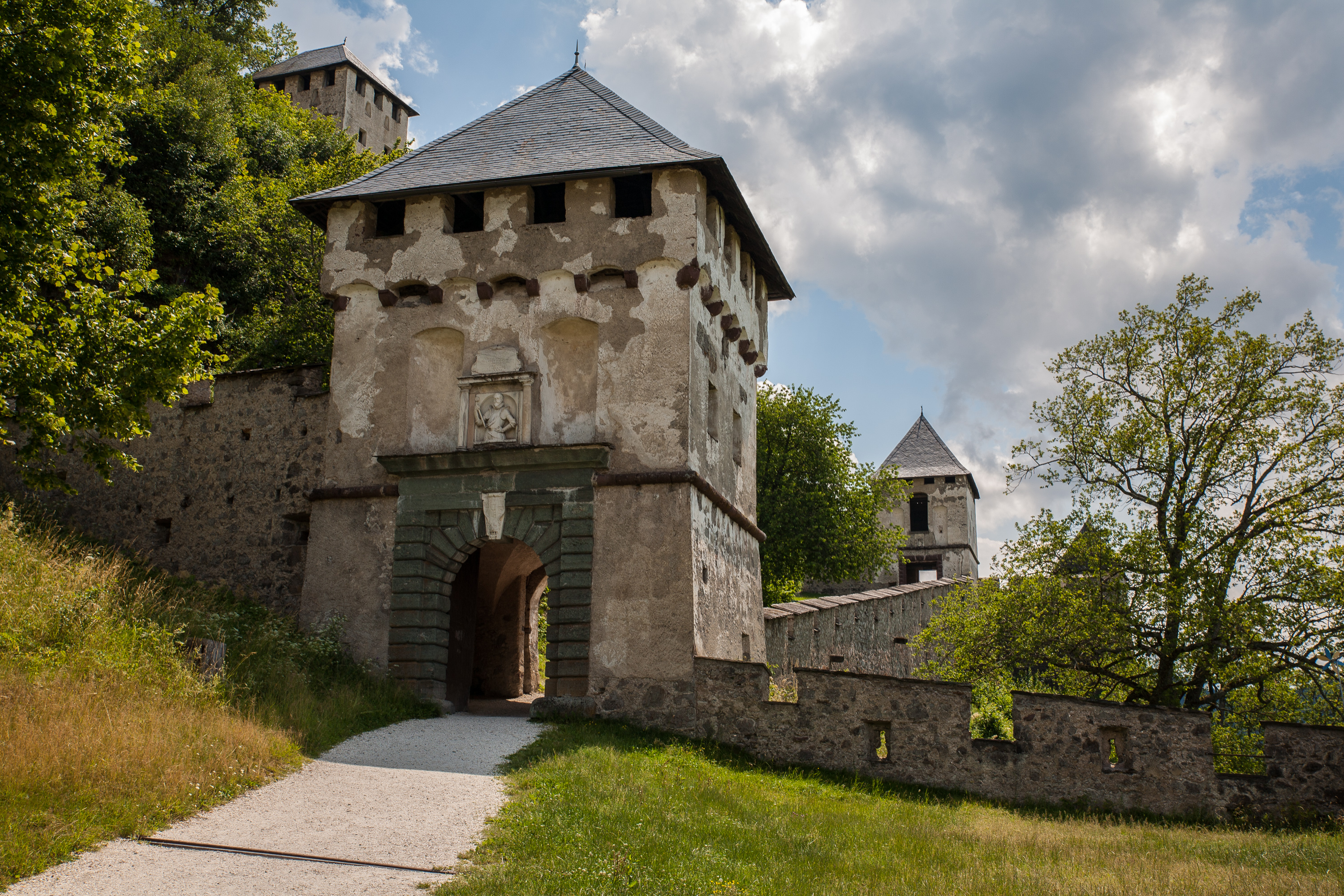One of the 14 gates at Hochosterwitz Castle