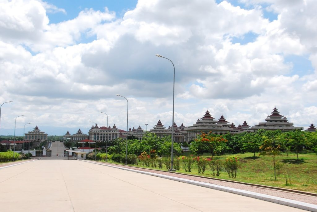 The parliament building of Naypyidaw.