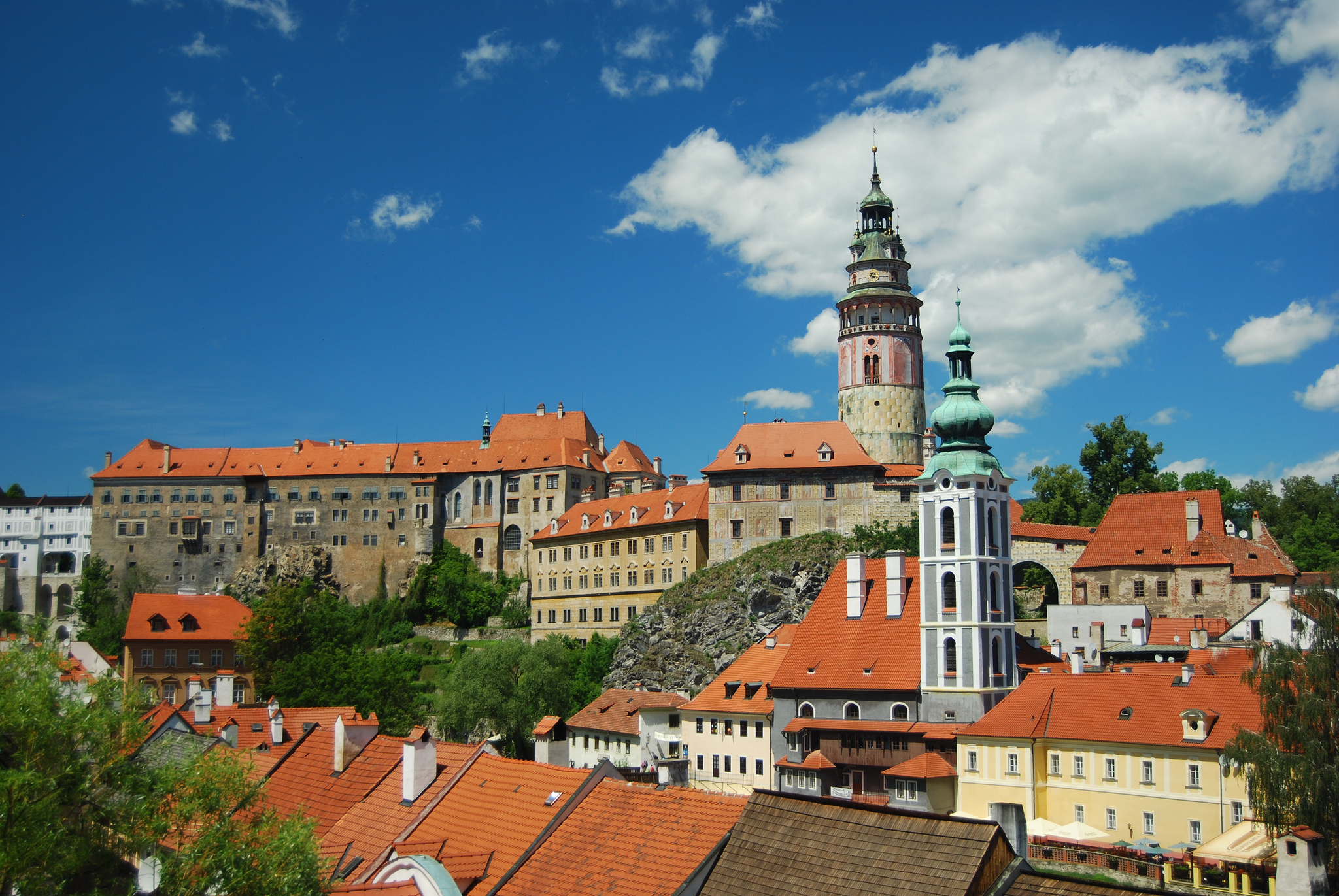 The historic centre around Cesky Krumlov Castle
