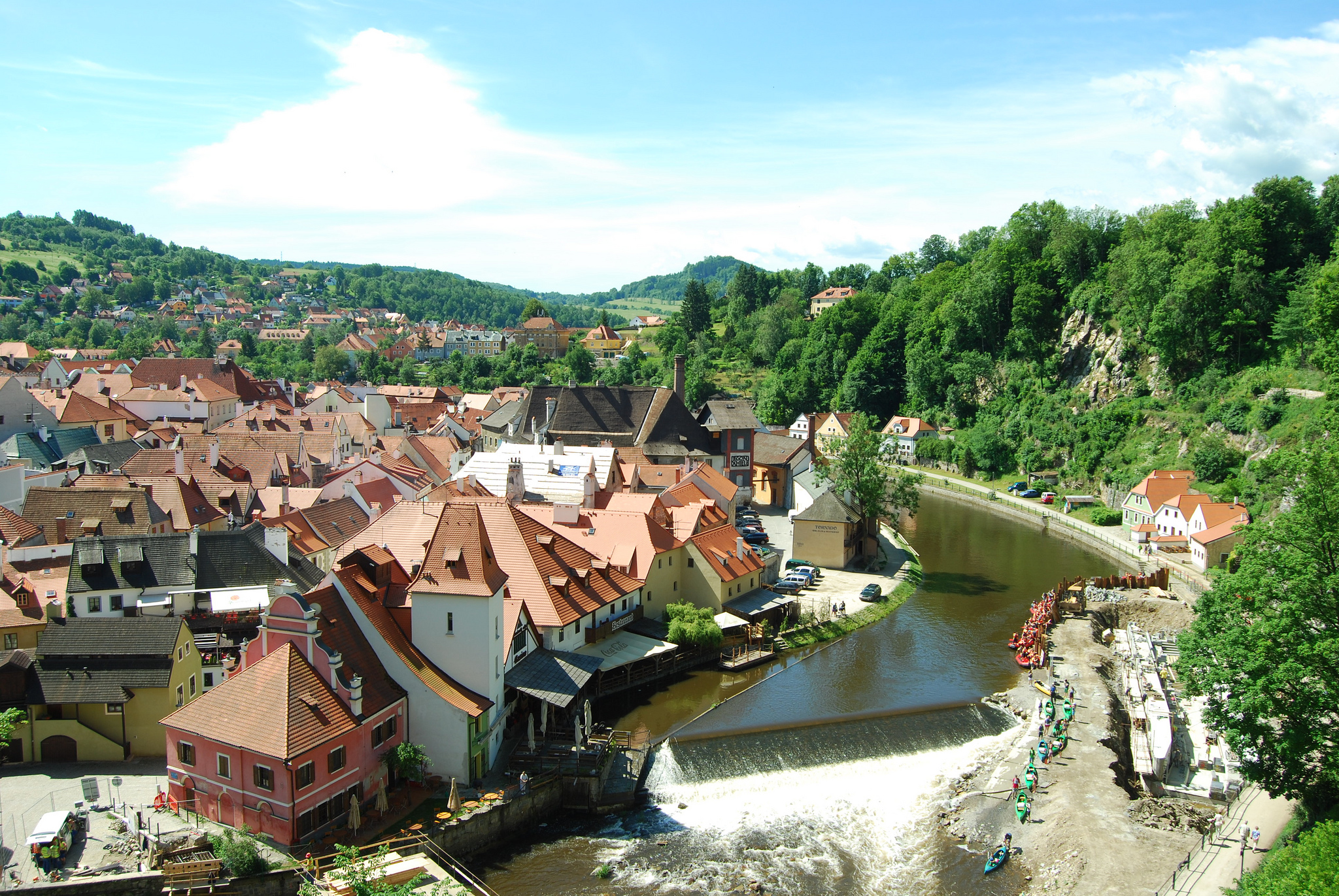 Cesky Krumlov is one of the most picturesque towns in Europe