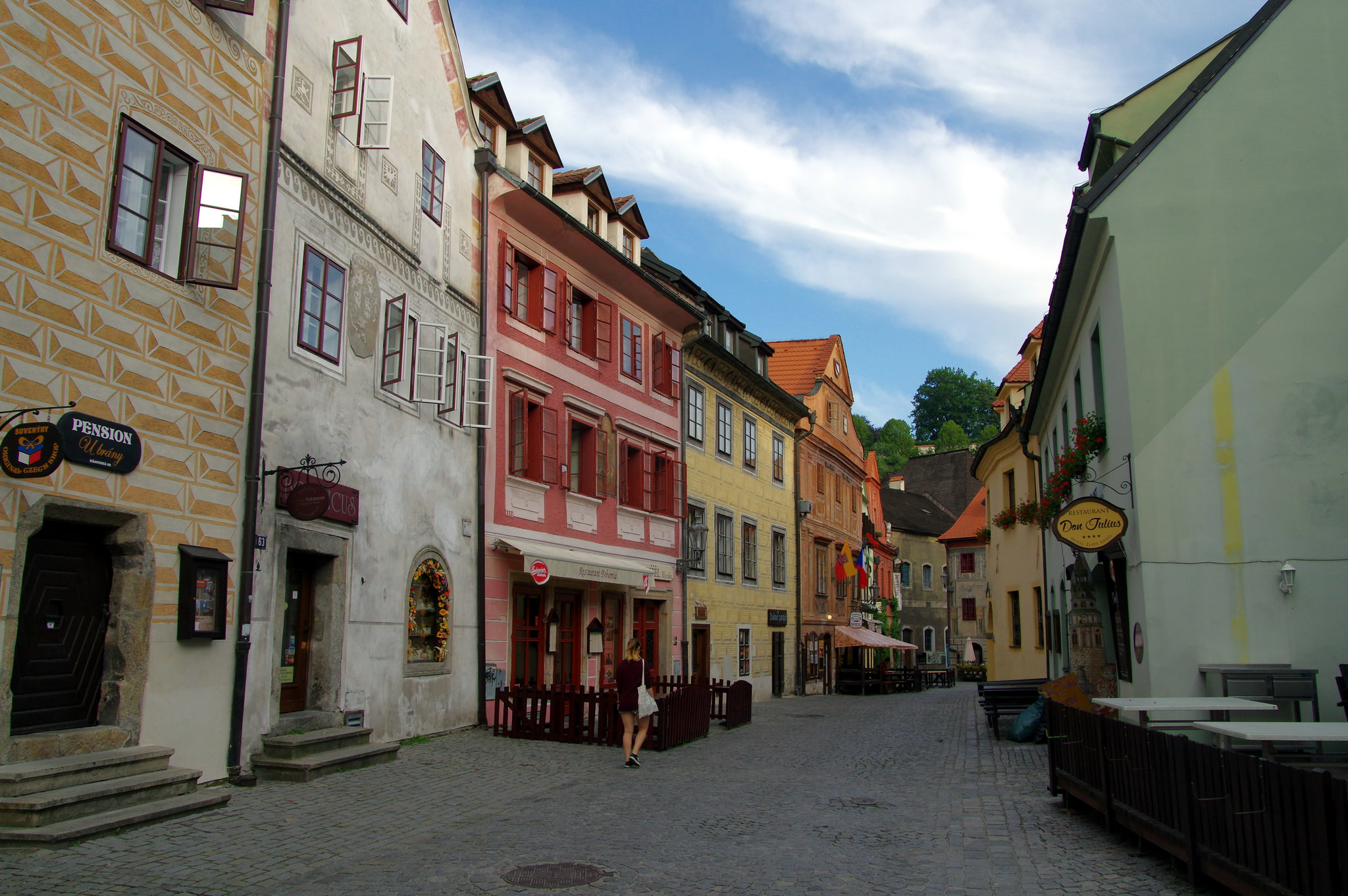 Cesky Krumlov is situated in the South Bohemian Region